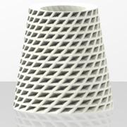 Rhombus pattern vase