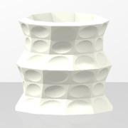 Dots pattern vase