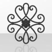 Ornements pour portails en fer forgé-038