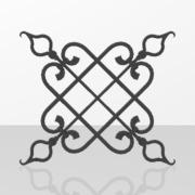 Ornements pour portails en fer forgé-035