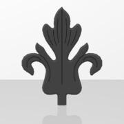 Ornements pour portails en fer forgé-074