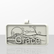 Grace Name tag with sakura Fuji
