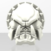 Evil BullDog Skull Chit