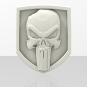 3D Punisher Skull Shield