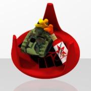 red_communist_militant_obj