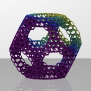 150vert_TruncatedDodecahedron_menger_cubeLevel2scale6Rainbow.ply