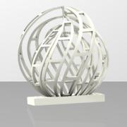 slice flower sculpture