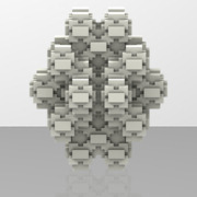 Menger_RhombicDodecahedronStellationPolyhedronLevel2scale5