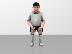Boy Figure Sitting Position  1/20