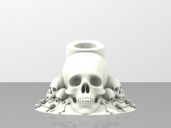 e-cig support -skulls&bones-