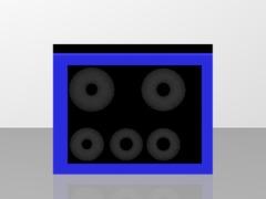 blå højtaler
