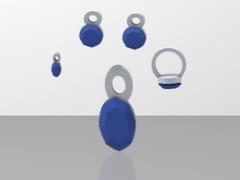 lara blue jewelry full set