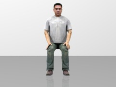 Teenager Boy sitting position