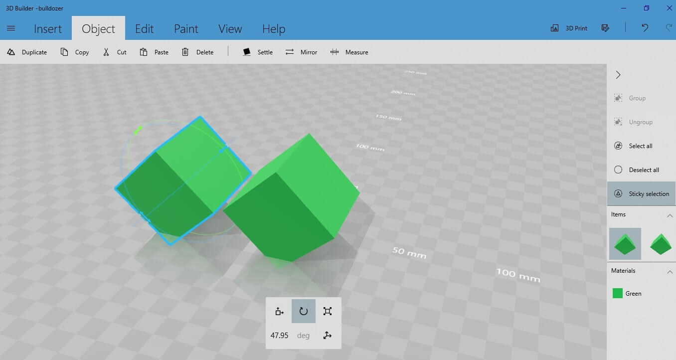 3D Builder: Create your own 3D object