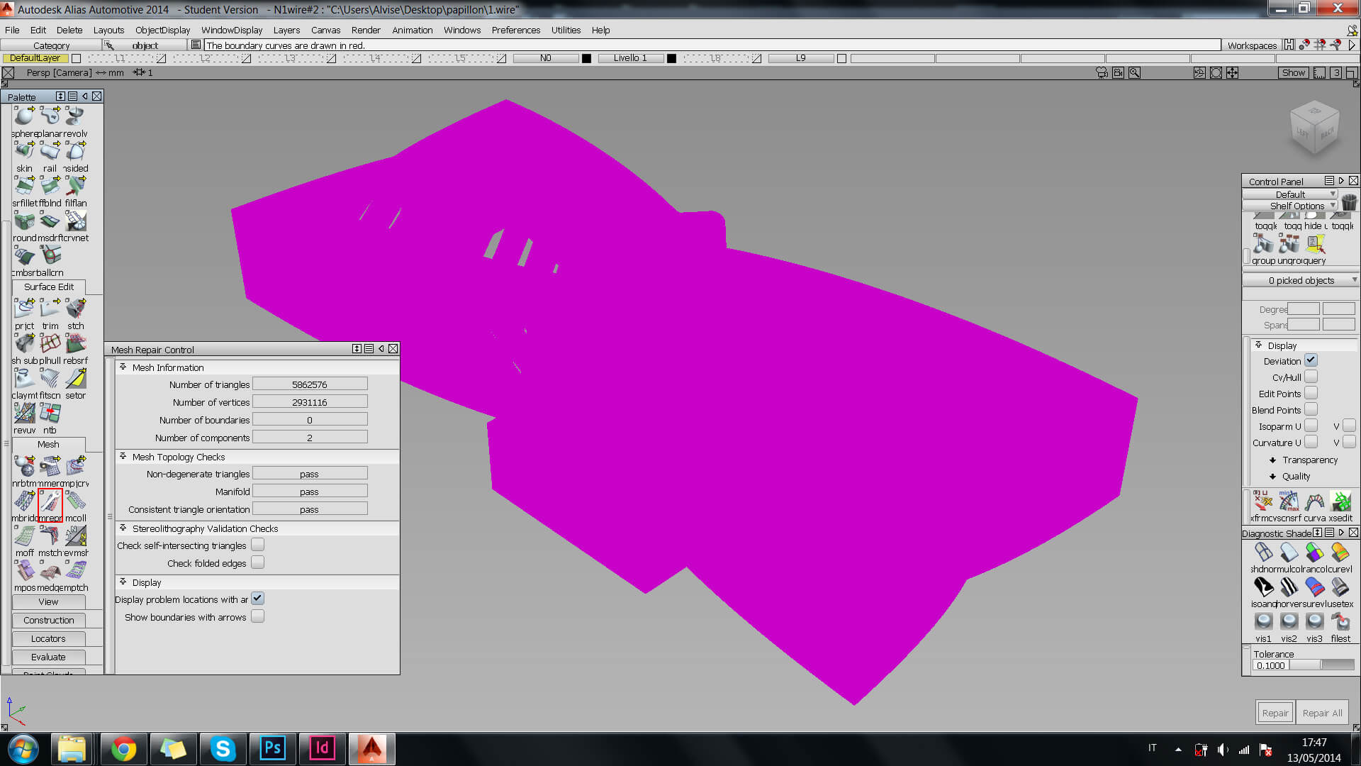Autodesk Alias Tutorial: avoid error when designing 3d printing