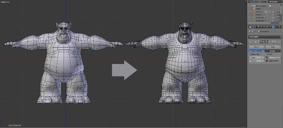 3D Models In A 3D Modeling Software