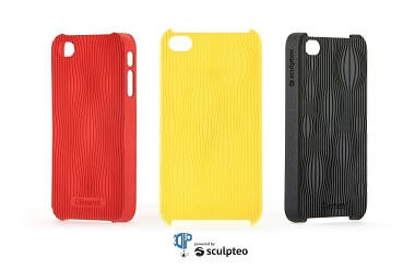 3D printed smartphone cover from the 3DP Case app by Sculpteo