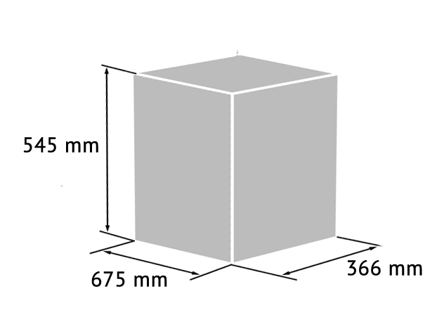 Icon to show the maximum size of a package