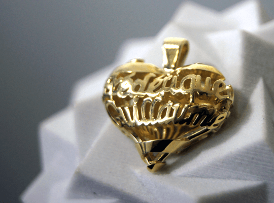 Example of Brass Printing Dassaut's heart: 3D printing masscustomisation With brass, large size