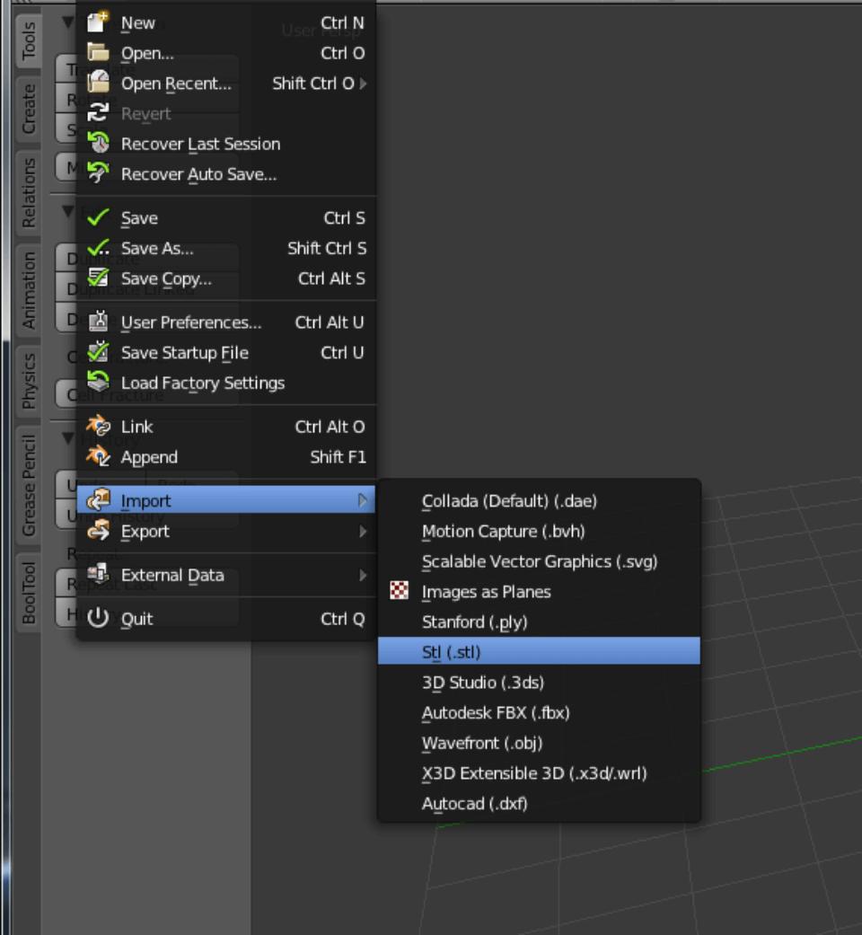 Prepara tu archivo con Blender