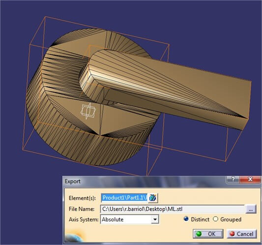 Catia tutorial: Part exporting menu. Choosing an appropriate file format
