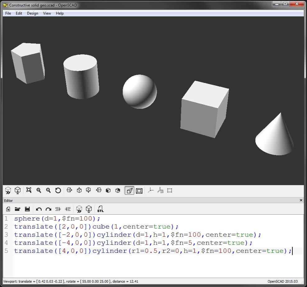 OpenSCAD: Open Source 3D Modeling Software using Scripting