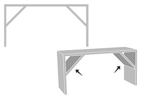 Icon to show that you can ad a support structure to maintain stability