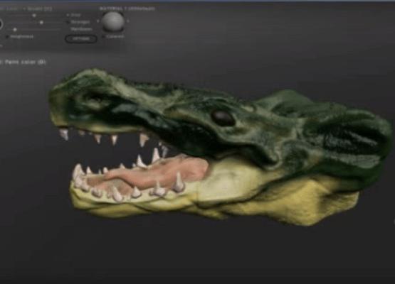 capture d'écran du logiciel Sculptris 3d