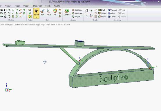 SpaceClaim software sreenshot