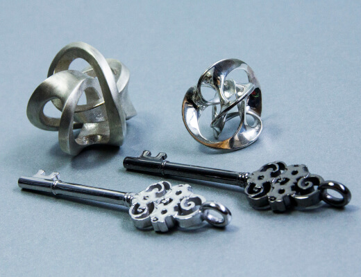 Sterling silver jewels produced thanks to the a 3d printed wax model .jpg