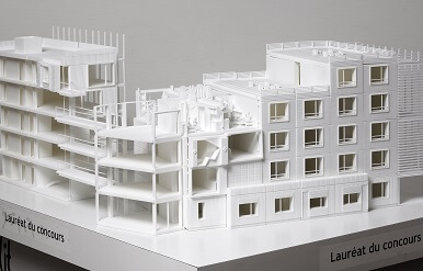 3D printed mockup for architecture by Sven architecture