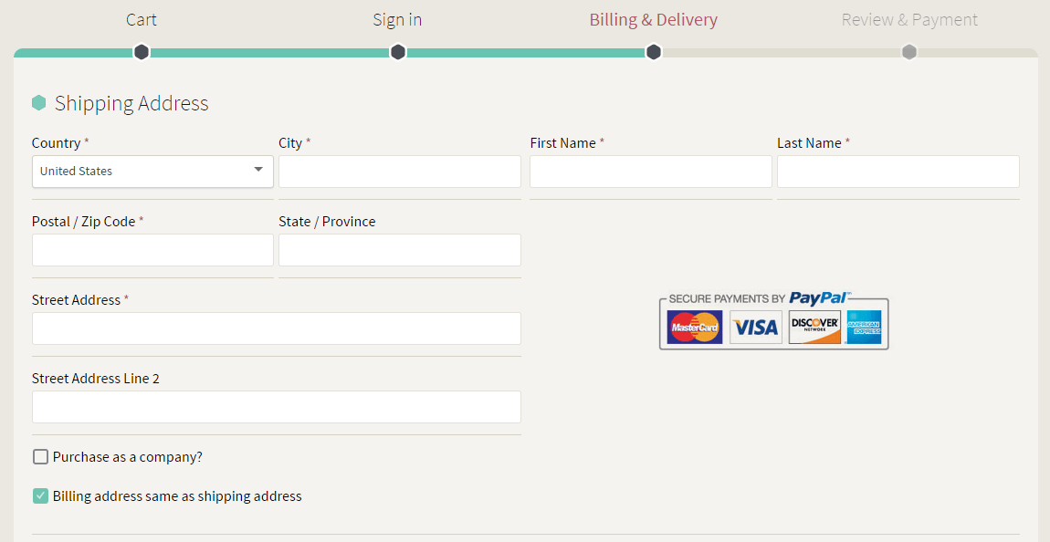 Example Checkout process : use your own checkout process and Sculpteo API Order