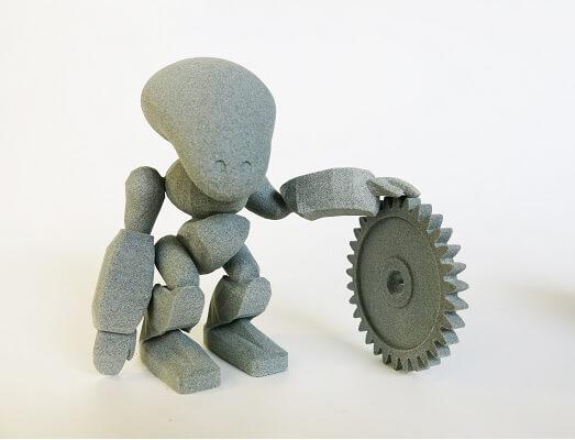 objets en impression 3D plastique grisl