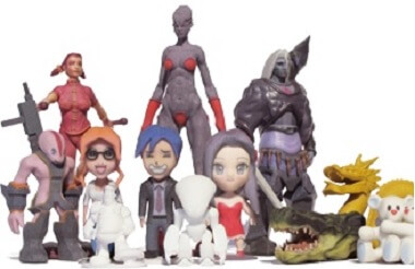 3D printed figurines for personal uses with Binder Jetting technology