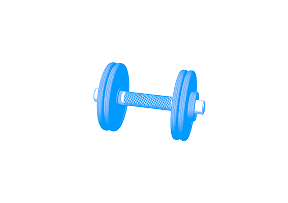3D design dumbbell