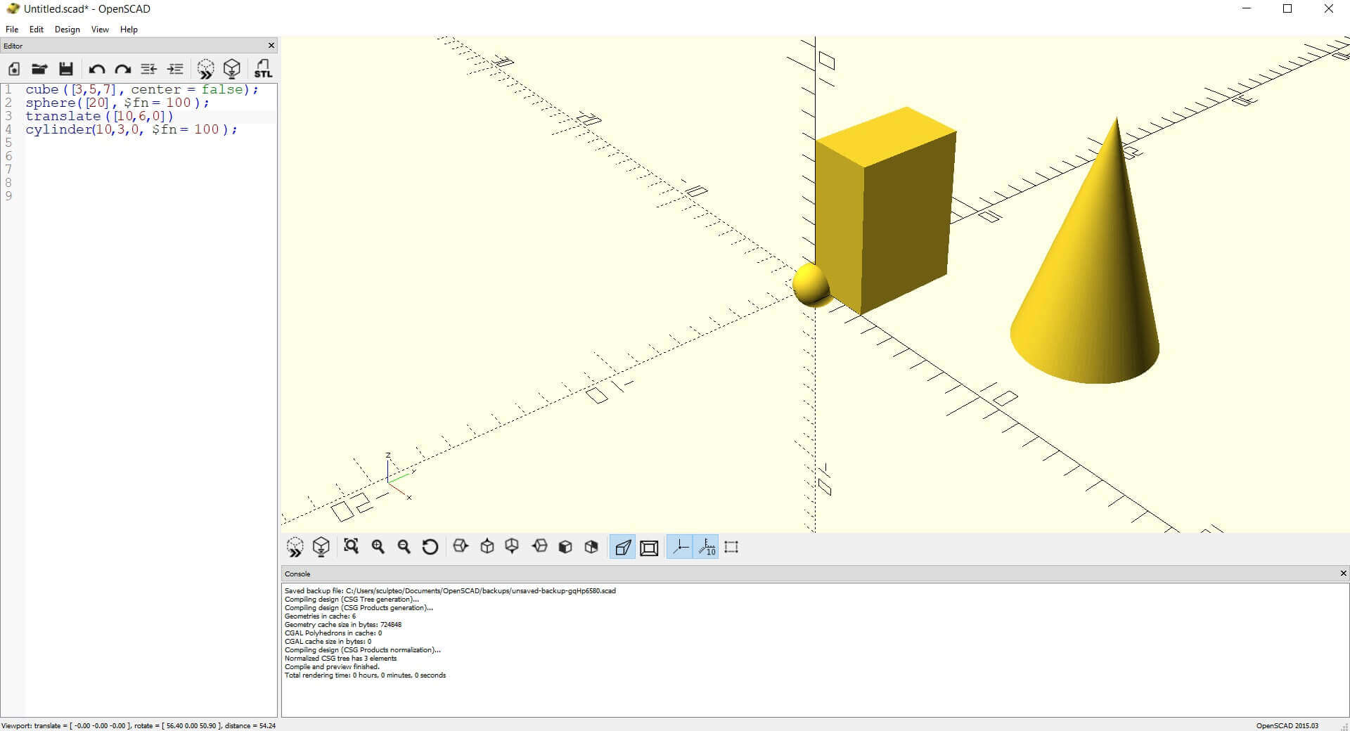 OpenSCAD: Creating a 3D object