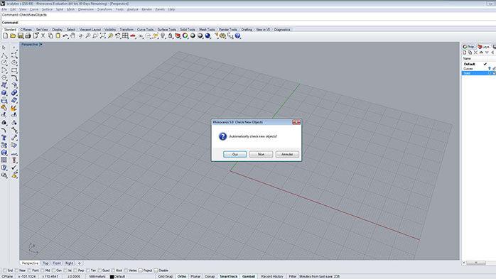 Preparar su modelo para la impresión 3D con Rhinoceros