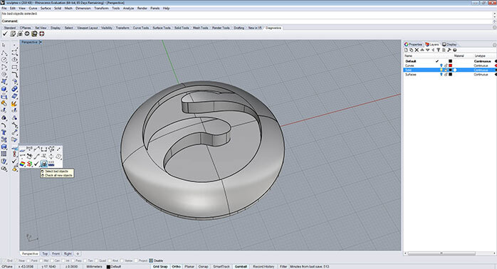 Rhino Tutorial: 3D file Analyse and Export for 3D Printing