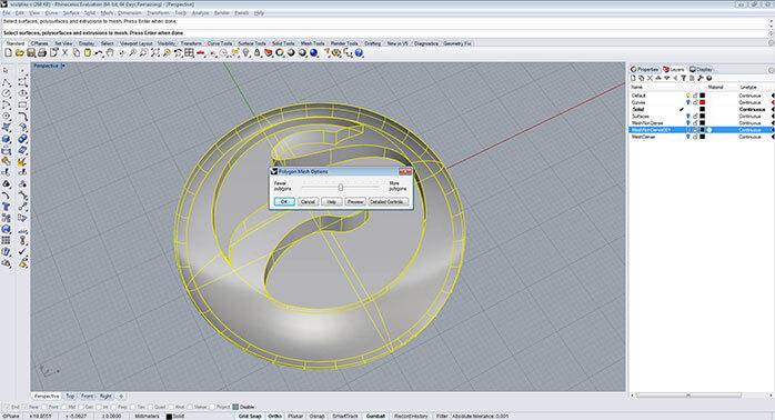 Rhino polygon mesh options