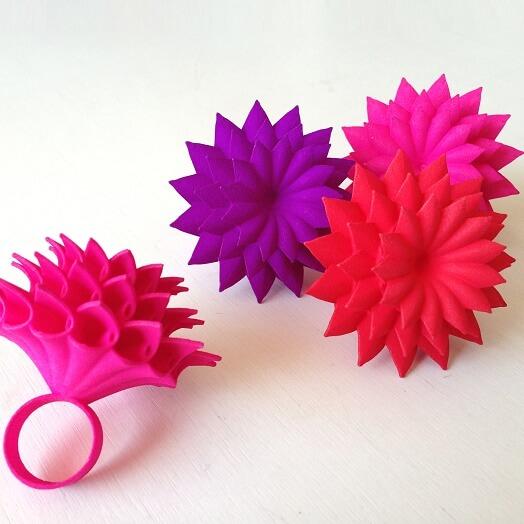 polyamide 3d printed rings