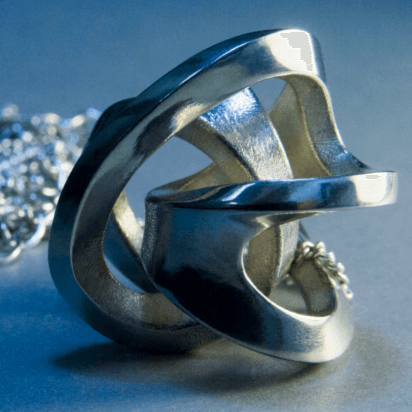 silver 3d printed jewel