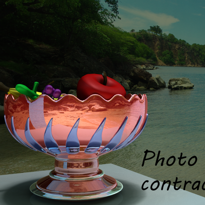 Coupe de fruits de couleur rouge