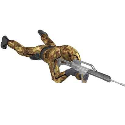 Sniper prone