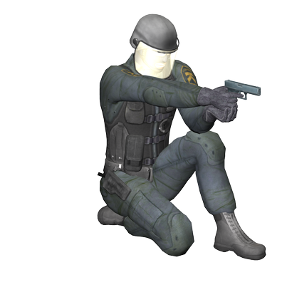 SWAT Handgun Sitting