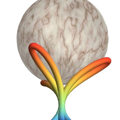 marble stand : sphere on trilemniscape
