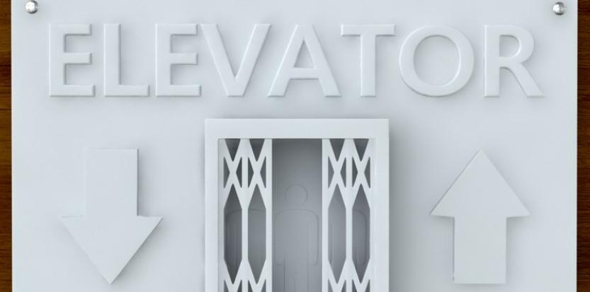 Elevator Sign, 3D printing design (RG7K74qu), 3D printing model, by