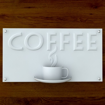 Coffee Sign with Text