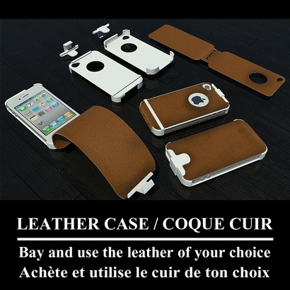 Iphone 4 /4s leather case / Iphone 4/4s coque cuir