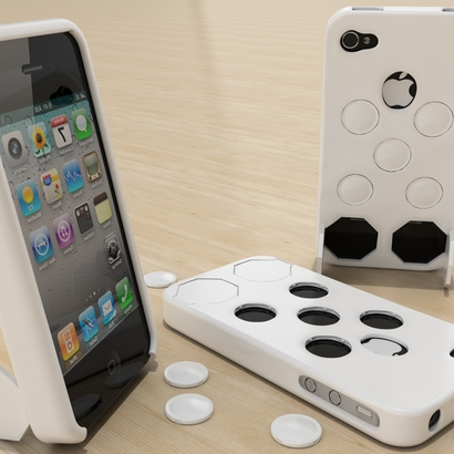 Iphone 4 case custom button