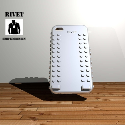 "coque iphone 4 ""RIVET"" à personnaliser"" / 3d print iphone 4 case"